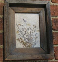 pressed flower picture frame. For when your boyfriend/husband gives you flowers on a special day.