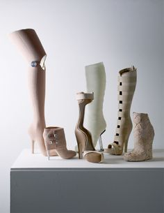 Medical inspired shoes by Gwendolyn Huskens. I'll take one of each please!