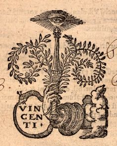 """michaelmoonsbookshop: """" Engraving from an early 17th century title page - 1607 """" [Sold]"""