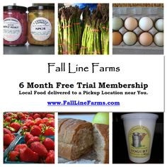 6 month free trial membership in Fall Line Farms!    Richmond, VA's online farmers market -  locally grown produce, pastured and grassfed meat and more! #smallfamilyfarms