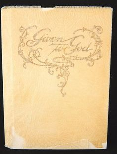 "Vintage Baby Baptismal Religious Book ""Given to God"" The Westminster Press 1937"