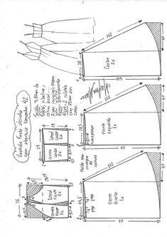 Vestido e saia de festa com tiras de espaguete - Nähen - Diy Clothing, Sewing Clothes, Clothing Patterns, Sewing Patterns, Sewing Coat, Fabric Sewing, Dress Sewing, Barbie Clothes, Techniques Couture