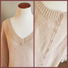 AG V neck sweater Beautiful neutral light pink rose color!  New with tags!  Fits true to size.   Reasonable offers welcome Note: 20% off bundles of 3+ items in my closet! AG Adriano Goldschmied Sweaters V-Necks