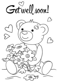 Get Well Coloring Pages Get Well Soon Coloring Page Free Printable Coloring Pages. Get Well Coloring Pages Coloring Pages Get Well Wishes Coloring Pages Cute Soon Page. Teddy Bear Coloring Pages, Fish Coloring Page, Coloring Pages For Boys, Free Printable Coloring Pages, Colouring Pages, Free Coloring, Doodle Coloring, Kids Coloring, Coloring Sheets