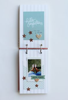 DIY Instax Mini Album by Adrienne Alvis for *Gossamer Blue*