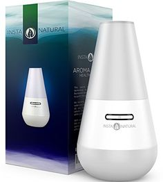 Create a soothing LED illuminated aromatic environment with InstaNatural's Essential Oil Diffuser. Simply fill the diffuser with water along with your favorite essential oil such as Lavender or Pepp...
