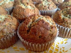 mákos muffin, muffin recept, Kocsis Hajnalka receptje, www.mokuslekvar.hu Poppy Seed Cookies, Poppy Cake, Small Cake, Homemade Cakes, Muffin Recipes, Biscuits, Food And Drink, Sweets, Snacks