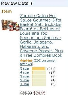 """#1 in Gourmet Sauces Gifts! Zombie Cajun """"The Antidote"""" extra strength conversion Hot Sauce. Saving the world one less Zombie at a time. This is Zombie Cajun Hot Sauce on steroids for those that like it extra hot. This is a superior blend of Cayenne and Habanero Peppers that will fuel your need for extra heat. Rated a 10 out of 10 for heat."""