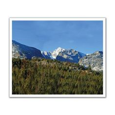 J.P. London Design, Inc. POS2145 Into the Boreal Forest Mountain Rocky Range Peel and Stick Removable Wall Decal Mural