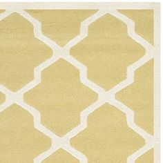 Safavieh Chatham Collection CHT735L Handmade Light Gold and Ivory Wool Area Rug, 5 feet by 8 feet (5′ x 8′) #handmade The Chatham Collection is the perfect blend of modern class and timeless elegance. These rugs bring traditional sophistication to your home. These rugs feature 100% Premium Wool, hand tufted into elegant Moroccan designs, perfect for your décor. These rugs feature a contemporary design and dense, thick pile highlight inspired by Moroccan patterns with today's updated ..
