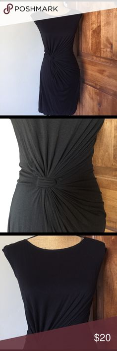 BLACK COCKTAIL DRESS Beautiful perfect condition black dress. Accentuated at the waist with knot makes for flattering fit Max Studio Dresses