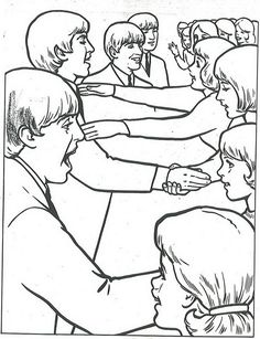 14 coloring pages of beatles on kids n funcouk