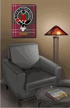 Scottish Clan Crest & Tartan Canvas Wrap