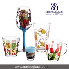 hand painted glass /glass tumbler/ China glassware supplier / China glassware manufacturer  / China glassware factory