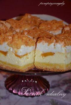 Przepisy Magdy: Sernik idealny Hungarian Cake, Cake Recipes, Dessert Recipes, Shortcrust Pastry, Christmas Appetizers, Polish Recipes, No Bake Cake, Sugar Cookies, Vanilla Cake