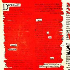 Austin Kleon - Newspaper Blackout in Red