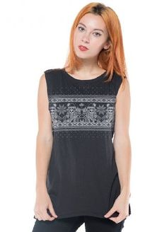 Social Decay Clothing Bad Santa Muscle Tee - Size: M/L Black The Bad Santa Muscle Tee by Social Decay Clothing is a festive sleeveless top with an edge - the Santa Clauses on the front are in the design of playing card skeletons! It has a knitted effect and is  http://www.MightGet.com/may-2017-1/social-decay-clothing-bad-santa-muscle-tee--size-m-l-black.asp