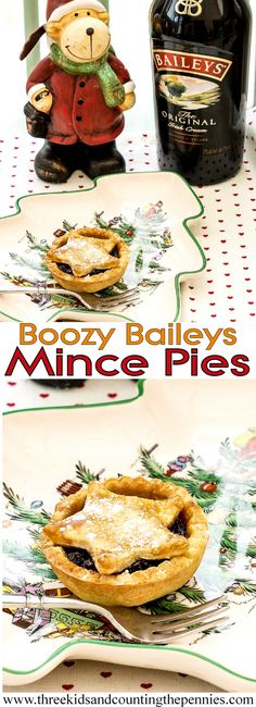 A naughty festive treat. Try these this Christmas, Boozy Baileys Mince pies - Holiday Holiday Pies, Holiday Snacks, Holiday Baking, Christmas Desserts, Christmas Treats, Christmas Foods, Christmas Cakes, Merry Christmas, Baileys Recipes