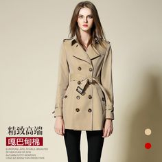 BURDULLY Women Female coat British Long Style Elegant Trench Coat Belted Double Breasted Trench/Outerwear trench coat Burberr #Affiliate