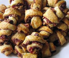 Chocolate Raspberry Rugelach  adapted from Martha Stewart's Baking Handbook