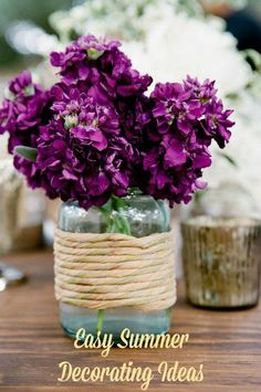 Easy summer decorating ideas. Use flowers to perk up your interiors. #idea #home #design