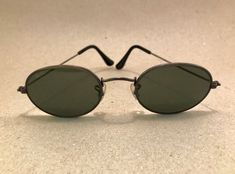 Vintage Ray Ban Classic Metals Oval W1283 bronze antique G-15 Bausch Lomb B&L