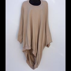 Complex Geometries Square Sand Hoodie Sand color One size Fits most! Squared off the front and a full back with hoodie type hood! (Make sense) ??? NEW WITH TAG! Great sweatshirt! Great price! No discounts unless bundled! Complex Geometries  Sweaters