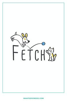 Dog and Cat Logo | Play Fetch | Pet Logo | Happy Animals