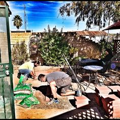 Get ready for an expanded back patio here at Bergies. Brian & Bruce are hard at work as we speak!   #bergies #bergiescoffee #gilbert #arizona #instaaz #coffeeroasters #coffeeshop #JJ #instatalent #instamood #iphoneonly #iphoneography