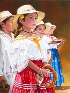 Pintura de Iván Delgado Maestro Pintor y Escultor Panama
