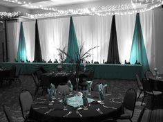 Stage decorating ideaGoogle Image Result for http://table4decor.com/images/Turquoise-BW-Decor.gif