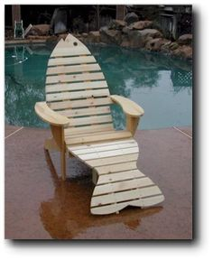 Adirondack Chair & Footrest Woodworking Plans. Our Adirondack Fish Chair & Footrest is uniquely designed and very easy to build. It has a