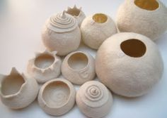 ...felted vases