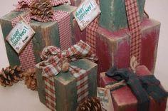 3 Super Easy & Super Cute Christmas Crafts! Rustic Wood Presents, Homemade Snowballs, Doorbell Wreath.