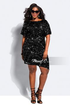 e2fbca95bb5d5 sequins black and black Sequin Dress With Sleeves