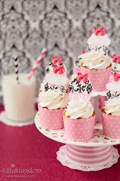 Damask Baby Shower Twinkie Cupcakes by Bakingdom