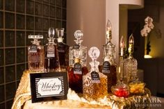 whiskey bar at a Great Gatsby party. To read more about what you can learn about your wedding from the Great Gatsby, check out our blog: http://bridalmentor.com/great-gatsby-wedding/