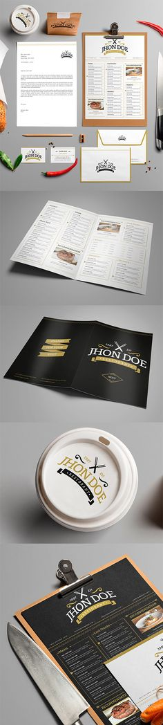 Free Brand Identity #design #template using smart objects, available in PSD and AI formats.