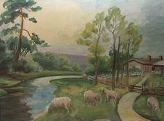 Kalle Aaltonen: Lampaita niityllä, öljymaalaus Painting, Art, Art Background, Painting Art, Kunst, Paintings, Performing Arts, Painted Canvas, Drawings