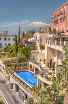 Taormina and Etna Volcano, Sicily, Italy