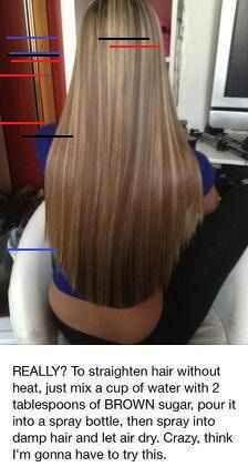 Straighten Hair With No Heat Straighten Hair With No Heat Straighten Hair Without Heat, Bushy Hair, No Heat, Damp Hair Styles, Straightener, Hairstyle, Pictures, Hair Job, Photos