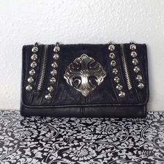 Miss Me Punk Rocker Stud Wallet Used a few times.  Minimal wear throughout.  Nail polish mark inside.  In great condition. Miss Me Bags Wallets