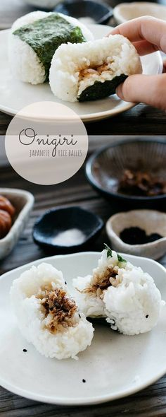 Japanese rice balls Onigiri More - Easy Ethnic Recipes Japanese Dishes, Japanese Onion Soups, Japanese Meals, Japanese Drinks, Japanese Bento Box, Asian Cooking, Asian Recipes, Japanese Food Recipes, Chinese Recipes