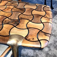 """Check out our new """"PATCH"""" table with unique brass legs! —— Visit us at I… Check out our new """"PATCH"""" table with unique brass legs! —— Visit us at ICFF 2019 Email us at INFO for complimentary tickets!"""