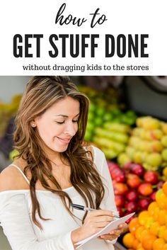 Run errands and get things done without dragging kids to the store! Tips for running errands with kids and tackling your to-do list without taking kids into even one store!