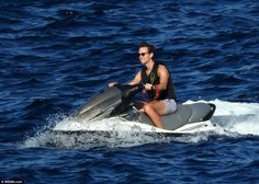 Letting loose: Kushner rides the waves as he enjoys a break from working with The Donald on the campaign trail, where he has become a key player