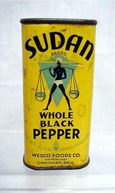 Sudan black pepper tin