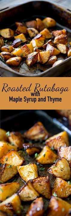 This roasted rutabaga (roasted swede) dish is a wonderful addition to your dinne. - Side dishesThis roasted rutabaga (roasted swede) dish is a wonderful addition to your dinner table. Sweet and fragrant with an earthy note, this side dish will hav Side Dish Recipes, Vegetable Recipes, Vegetarian Recipes, Cooking Recipes, Healthy Recipes, Diet Recipes, Recipies, Healthy Meals, Yummy Recipes