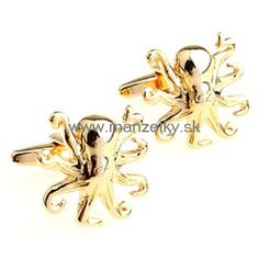 Funny Gold Octopus Cufflinks,Shop the largest selection in designer cufflinks,,cufflinks pacman Funny And Gold, Designer Cufflinks, Octopus, Brooch, Luxury, Classic, Career, Color, Jewelry