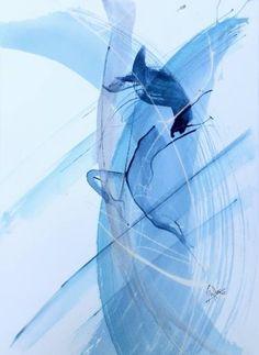 """Saatchi Art Artist Federico Butler; Painting, """"Dancing under water 2"""" #art"""